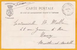 1911 - 5 C Semeuse Camée Sur CP De Zanzibar Vers Nancy, France - Paquebot Ligne Réunion Marseille - Postmark Collection (Covers)