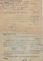 """-12 Zaine.de Documents,1915/16/17/18,provenant De Namur Ayant Rapport à La Commune De St. Martin-Balatre,venant Du""""Kaise - Manoscritti"""