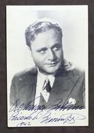 Musica Lirica - Fotografia Con Autografo Del Tenore Beniamino Gigli - 1942 - Autografi