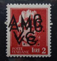 AMG VG 1947 Lire 2 VARIETA' Firmata Mondolfo  Mnh ** - Ungebraucht