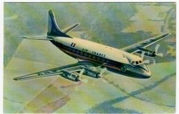 """AVIAZIONE - AEREI - AIR FRANCE - VICKERS """"VISCOUNT"""" - Vedi Retro - Formato Piccolo - 1946-....: Moderne"""