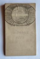 ANCIENNE CARTE ENTOILEE ANDRIVEAU-GOUGEON - 33 - Révisée En 1888- SOISSONS - Villages Et Hameaux Jusqu'à VENETTE - JAUX - Carte Topografiche