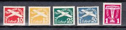 Danzig 1935,5W,Mi251-255,Flugpostmarken,Postfrisch Mit Falz,(D2614) - Danzig