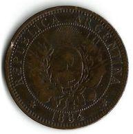 Pièce De Monnaie  2 Centavos 1884 - Argentina