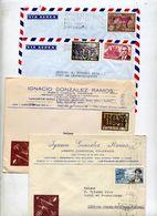 Lot 45 Lettre Flamme Cachet à Voir  Bonne Surprise 3 Recommandee Des Entetes Montres Horloger - Machine Stamps (ATM)