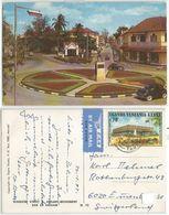 Tanzania KUT East Africa Windsor Street & Askari Monument In Dar Es Salaam Color AirMailPPC 26dec1972 With C70 Solo - Tanzania