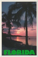 FLORIDA, Sunset Over The Water, Used Postcard [20819] - Other