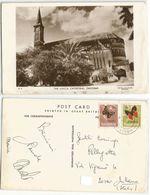 Tanzania Zanzibar U.M.C.A Cathedral B/w AirmailPPC 4apr1974 With 2 Buitterflies Stamps - Tanzania