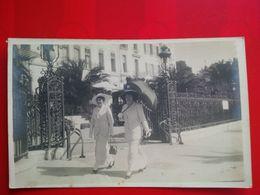 CARTE PHOTO CANNES 1914 ELEGANTES - Cannes