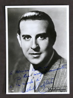 Musica - Fotografia Con Autografo Del Cantante Alberto Rabagliati - 1940 Ca. - Autografi