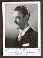 Radio - Fotografia Con Autografo Del Conduttore Nunzio Filogamo - 1942 - Autografi