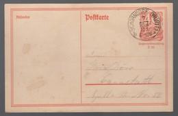 DR Ganzsachen Postreiter P141 1921 Schorndorf Nach Cannstatt K1028 - Deutschland