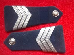 Paire De Pattes D'épaule Gendarmerie Maréchal Des Logis-chef - Police