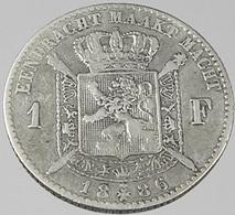 1 Franc - Belgique - 1886 - TB+ - Argent - - 1865-1909: Leopold II