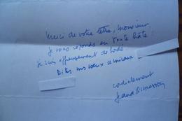 Autographe Jean D'Ormesson (écrivain)) - Autografi
