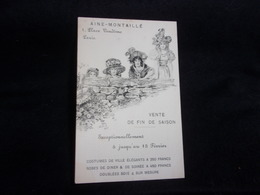 """Paris 01. Carte Publicitaire ."""" Aine  - Montaillé """" Art Nouveau . Femmes """" Viennoises """" Avant 1903.Voir 2 Scans . - Arrondissement: 01"""