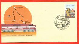 Australia 1980 .FDC. Railway. - 1980-89 Elizabeth II