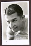 Sport Ciclismo Fotocartolina Con Autografo Del Ciclista Giuseppe Olmo - 1937 Ca. - Autografi