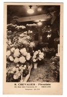 45 LOIRET - ORLEANS Fleuriste R. Chevalier. 22 Rue Des Carmes, Carte Double - Orleans