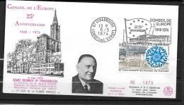 1974 - FDC -  25 Ans Du Conseil De L'Europe - Covers & Documents
