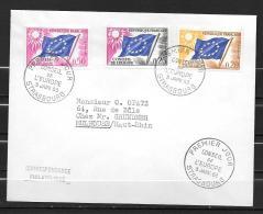 1963 - FDC -  Conseil De L'Europe - Covers & Documents