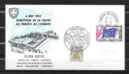 1963 - FDC -  Admision De La Suisse Au Conseil De L'Europe - Covers & Documents