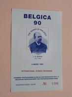 BELGICA 90 ( J. - B. MOENS ) The Father Of Philately 9 Mars 1989 ( Foto Sheet N° 1596 / Verschillende Nrs. Beschikbaar ) - Velletjes