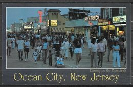 New Jersey, Ocean City, Evening On The Boardwalk, Unused - United States