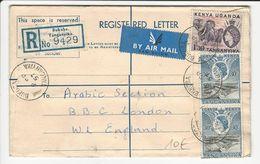 Cover//Letter * Kenya, Uganda & Tanganyika * Bukoba * Tanganyika * 1957 * Registered - Kenya, Uganda & Tanganyika