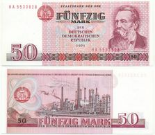 DDR 1971, 50 Mark, Staatsbank DDR, F. Engels, KN 7stellig, Geldschein, Banknote - [ 6] 1949-1990 : GDR - German Dem. Rep.