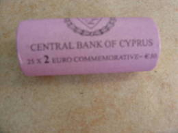 CYPRUS 2009 E.M.U. COMMEMORATIVE 2 EURO COINS IN ROLL - Rollos