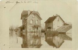 78-Villennes Sur Seine : Carte Photo 1910-Inondation Des Villas -Crue De La Seine - Villennes-sur-Seine