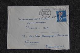 Lettre D'ALLEMAGNE à FRANCE - BRD