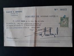 Maroc Espagnol - Marruecos - Tanger 1955 - Recibo De Alquiler (loyer) - Spanish Morocco