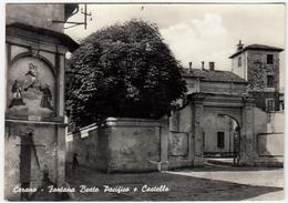 CERANO - FONTANA BEATO PACIFICO E CASTELLO - NOVARA - 1958 - Novara