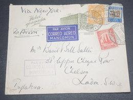 COLOMBIE - Enveloppe Commerciale De Bogota Pour La Grande Bretagne En 1934 Par Avion ,affranchissement Plaisant- L 12601 - Colombie