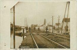 78-Villennes Sur Seine : Carte Photo 1910-Inondation Voies Ferrées Et Des Villas-Crue De La Seine - Villennes-sur-Seine