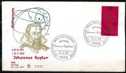 "First Day Cover Germany 1971 Mi.Nr.688 Künstler Ersttagsbrief ""400.Geburtstag Von Johannes Kepler,Astronom,""1 FDC - Astrologie"