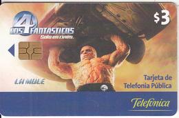 ECUADOR(chip) - Fantastic 4, Telefonica Telecard, Chip GEM3.3, Used - Ecuador