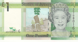 Jersey Banknote (Pick 32)  One Pound Code AD First Issue - Superb UNC Condition - Jersey