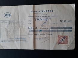 Maroc Espagnol - Marruecos - Tanger 1953 - Recibo De Gasolina - Maroc Espagnol