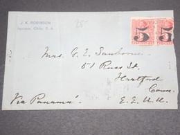 CHILI - Enveloppe De Iquique Pour Les Etats Unis En 1915  - L 12605 - Chili