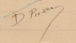 CPA - Signature Autographe De M. DOMINIQUE PIAZZA (Créateur De La Carte Postale Illustrée) Sur CP MISTRAL à Maillane - Autografi