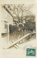 78-Villennes Sur Seine : Carte Photo 1910 Inondation Hotel Sophora - Villennes-sur-Seine