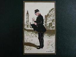 CPA8-L13 - Carte Image Chromo Le Facteur - Café D'Harcourt à Paris - Ansichtskarten