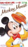 Télécarte Japon * 110-011 * DISNEY * MICKEY (5043) Chapeau * Dai Ichi Life Insurance Japan Phonecard TK Insurance - Disney