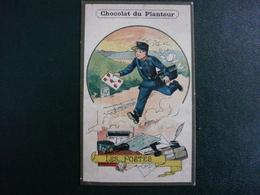 CPA8-L13 - Carte Image Chromo Le Facteur Les Postes Chocolat Du Planteur - Ansichtskarten