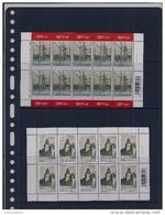 Belgie - Belgique 3629/30 Velletje Van 10 Postfris - Feuillet De 10 Timbres Neufs  -  Huis Stoclet Jozef Hoffmann - Feuilles Complètes