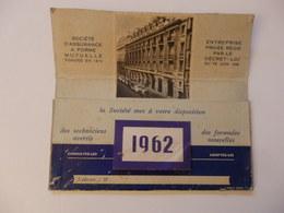 Grand Calendrier De La Société D'assurance Mutuelle 25cm/22cm. - Big : 1961-70