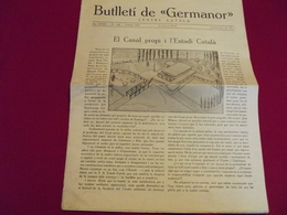 BUTLLETI DE GERMANOR . CENTRE CATALA .N° 548 Feber 1950 - Revues & Journaux
